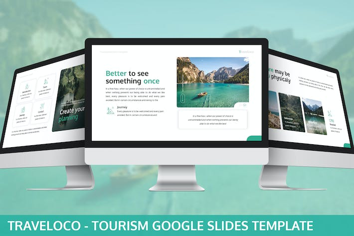 Thumbnail for Traveloco - Tourism Google Slides Template