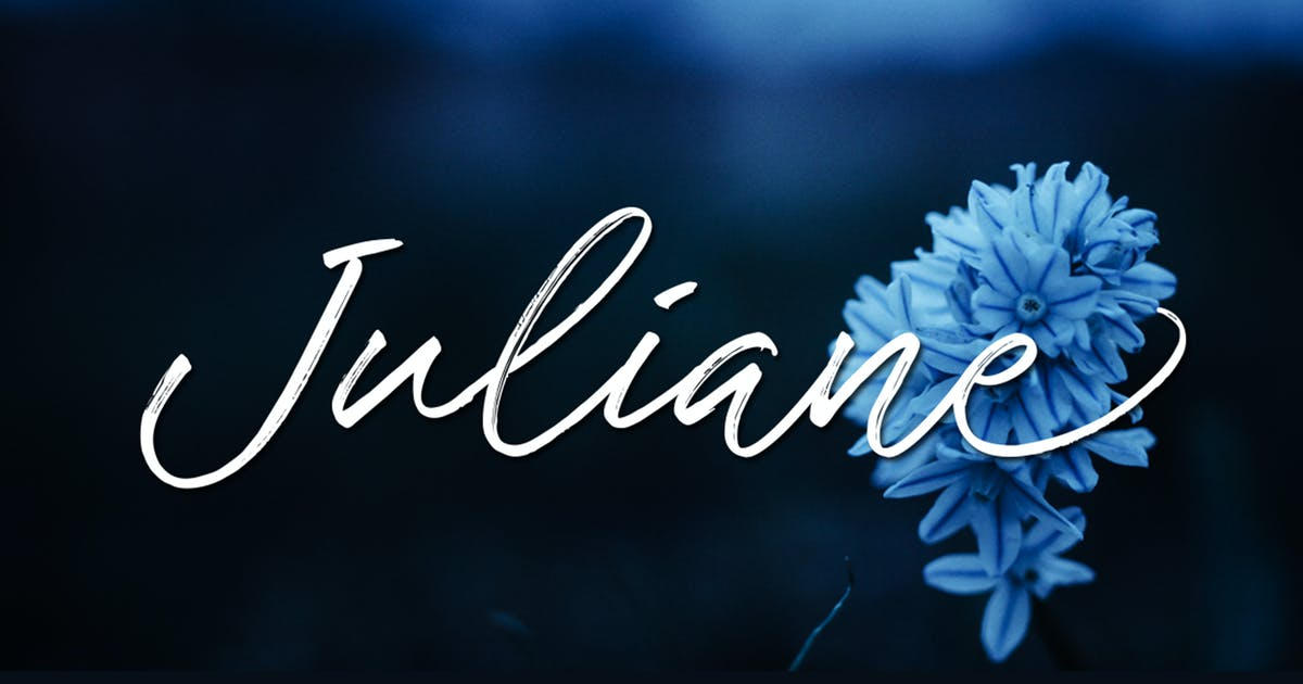 Download Juliane Brushscript by Byulyayika
