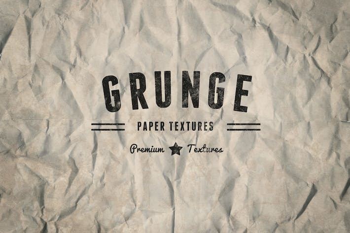 Thumbnail for Vintage Grunge Lined & Crumpled Paper Textures