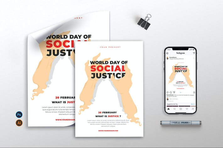 World Day of Social Justice vol.01 - Flyer TY