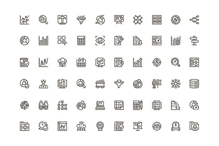 Datenanalyse-SymbIcons Pack