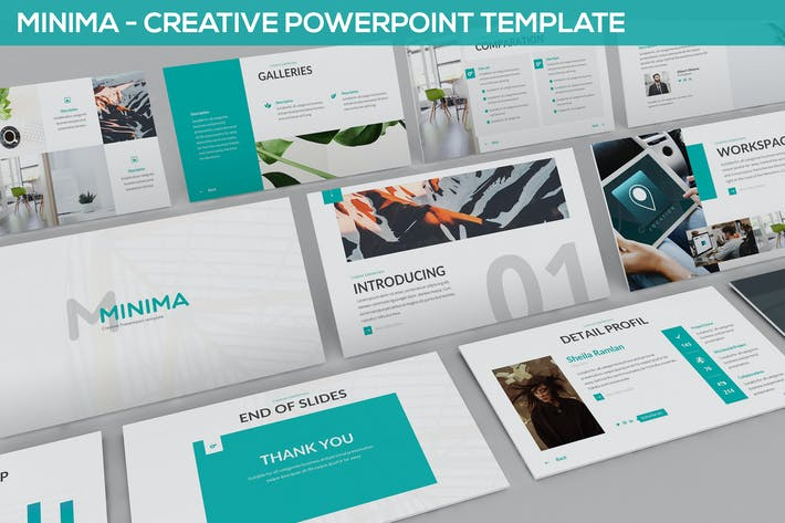 Thumbnail for Minima - Minimal & Creative Powerpoint Template