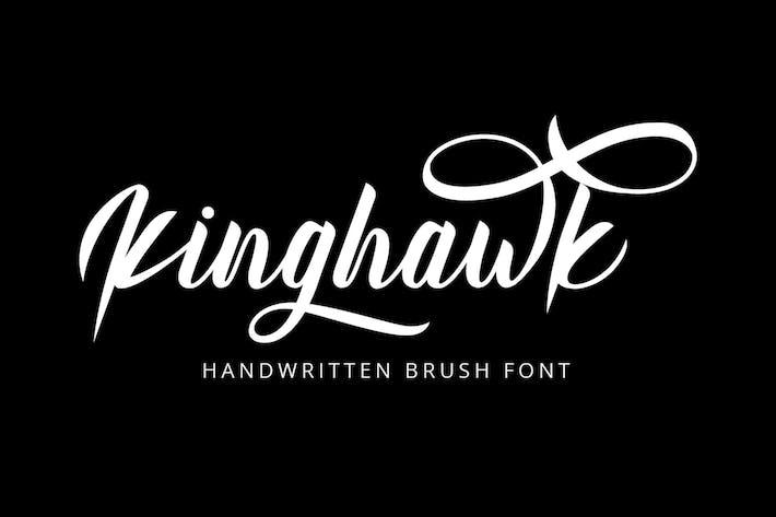 Thumbnail for Kinghawk - Handwritten Brush Font