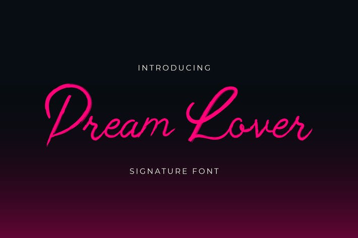 Thumbnail for Dream Lover Brush Handwritten Font