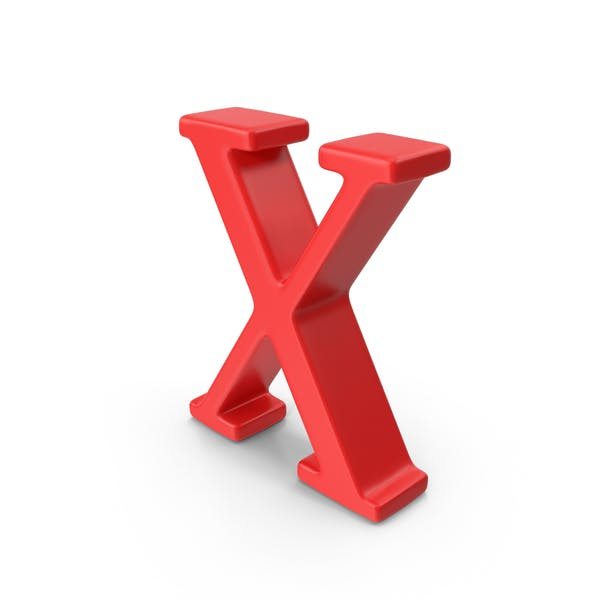 Thumbnail for Red Capital Letter X