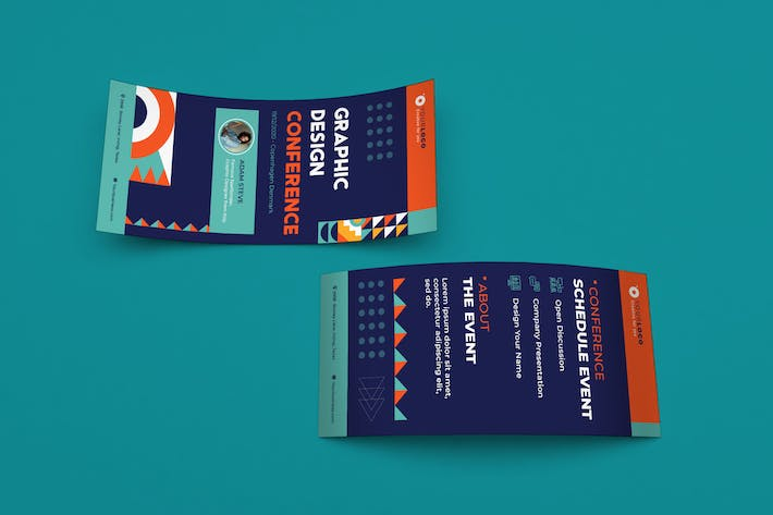 Thumbnail for Event Conference DL Rackcard Illustrator Template