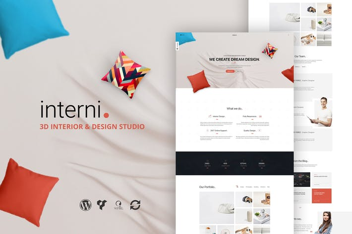 Thumbnail for Interni 3D Interior Design Studio WordPress Thema