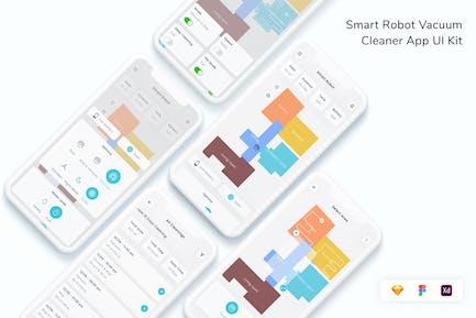 Smart Robot Vacuum Cleaner App UI Kit