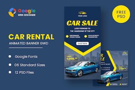 Car Banner HTML5 Banner Ads GWD