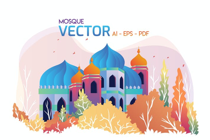 Thumbnail for MOSQUE - Vector Illustration