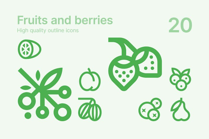 Thumbnail for Fruits and Berries Icons