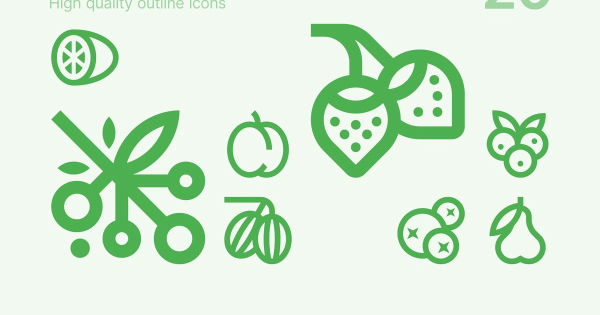Download Fruits and Berries Icons by polshindanil