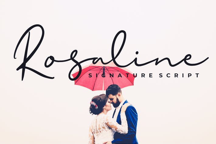 Cover Image For Rosaline Signature Script Font