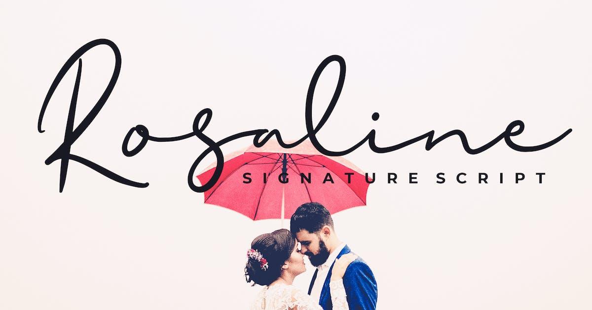 Download Rosaline Signature Script Font by Formatika