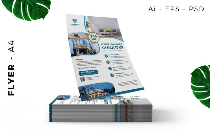 Thumbnail for Home Cleaning Service Flyer Design