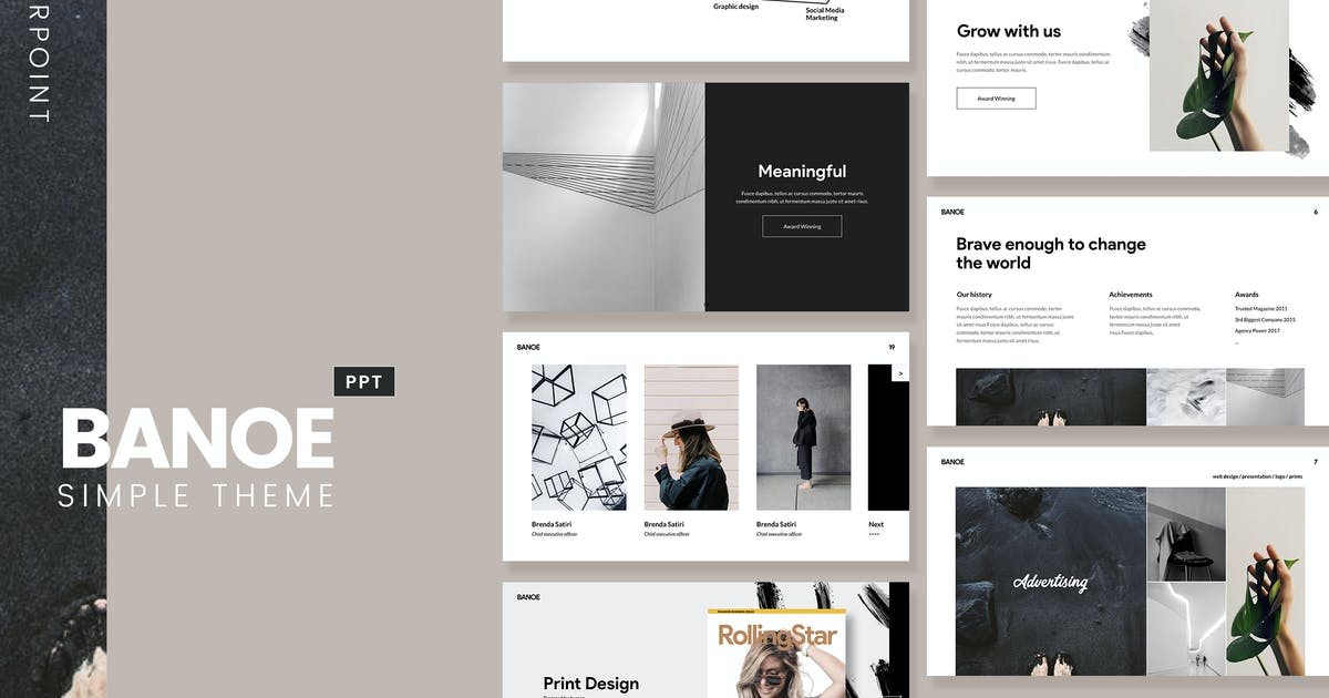 Download BANOE - Modern Powerpoint by Slidehack
