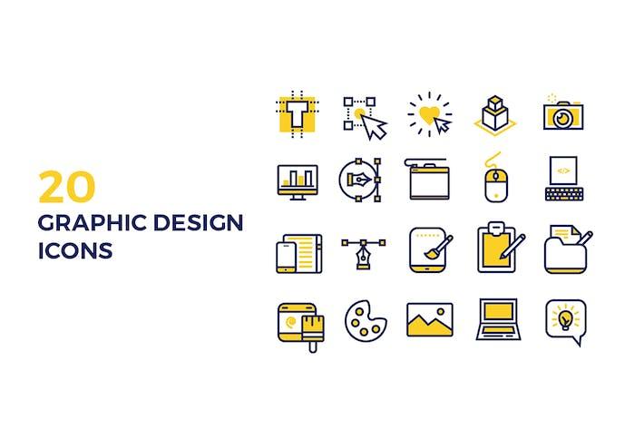 Thumbnail for Íconos Diseño gráfico