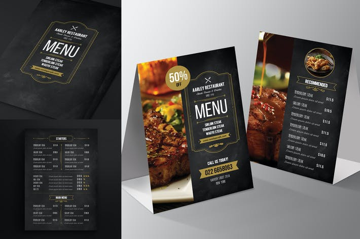 Thumbnail for Blackboard Menu Flyer + Table Tent