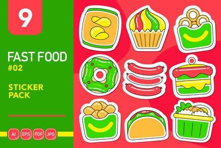 Fast Food #02 Sticker Pack