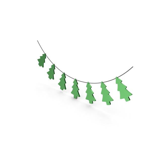 Green Christmas Tree Garland