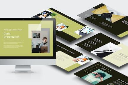 Goria : Mobile App Promotion Powerpoint