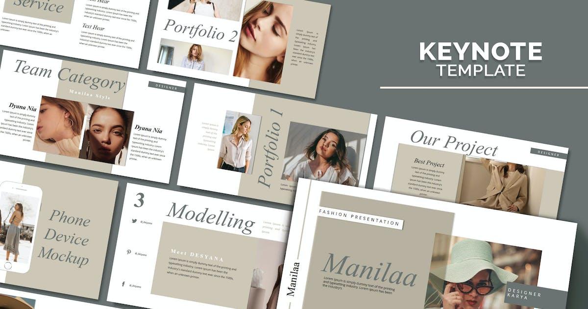 Download MANILA - Fashion Keynote Template by joelmaker