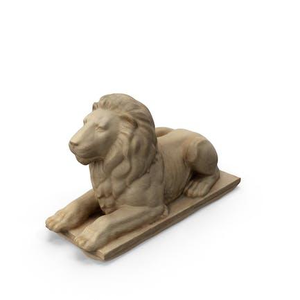 Liegender Löwe Statue