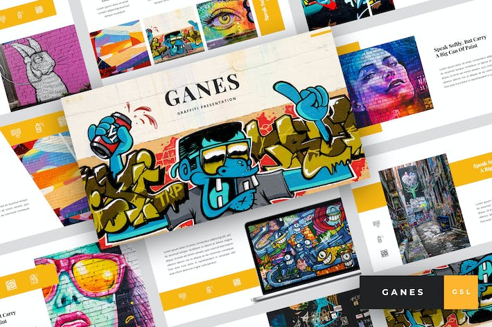 Thumbnail for Ganes - Graffiti Google Slides Template