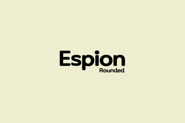 Thumbnail for ESPION Rounded - Modern Typeface
