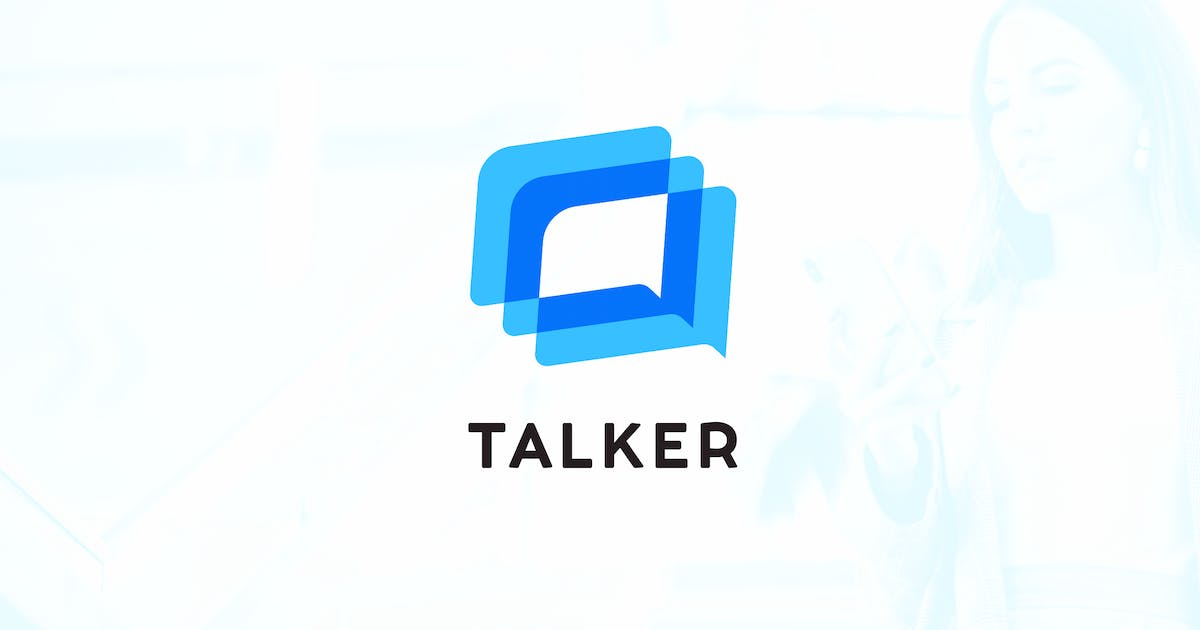 Download Chat and Forum Talks – Messenger Logo Template by merkulove