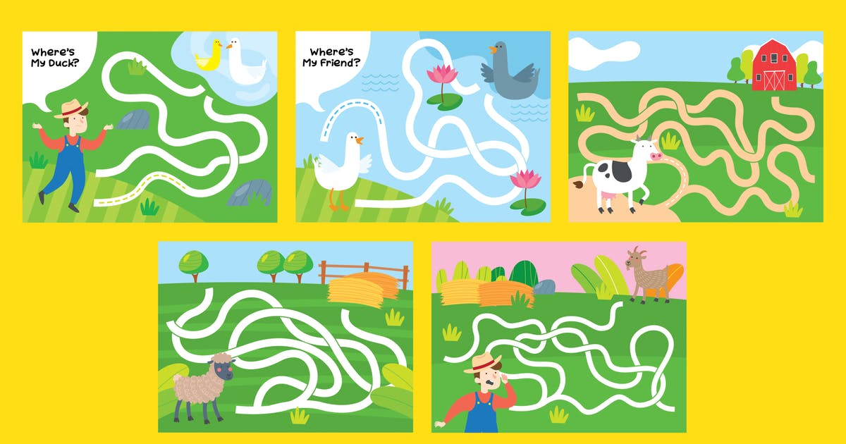 Download Farm Maze game for children series by Tokokoo