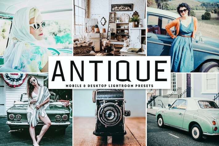 Thumbnail for Antique Mobile & Desktop Lightroom Presets