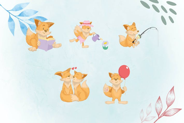 Thumbnail for Whimsical Animal Illustrations FOX