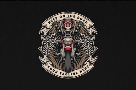 Chopper Motorcycle Vintage Logo Illustration