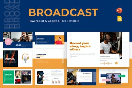 Broadcast Powerpoint & Google Slides Template