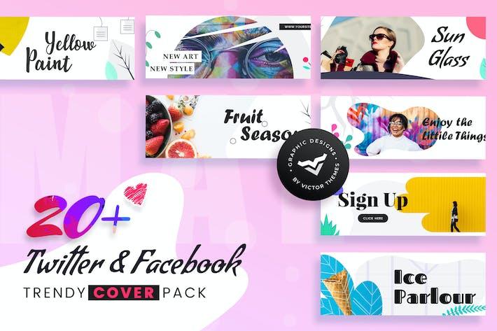 Thumbnail for Facebook & Twitter Cover Social Media Templates