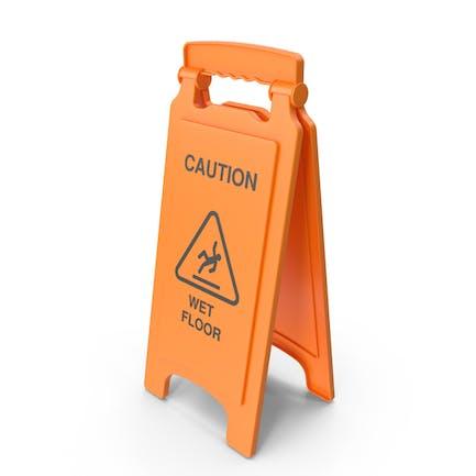Señal de seguridad para suelo mojado.