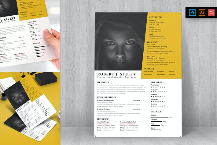 Thumbnail for Resume CV Template-92