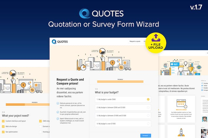 Thumbnail for Quote - Quotation or Survey Form Wizard