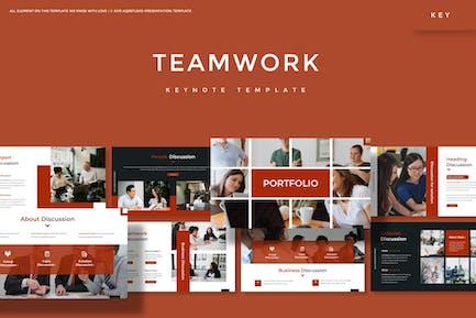 Работа в команде - Шаблон Keynote