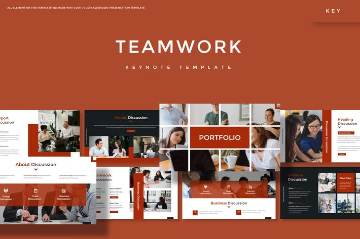 Thumbnail for Teamwork - Keynote Template