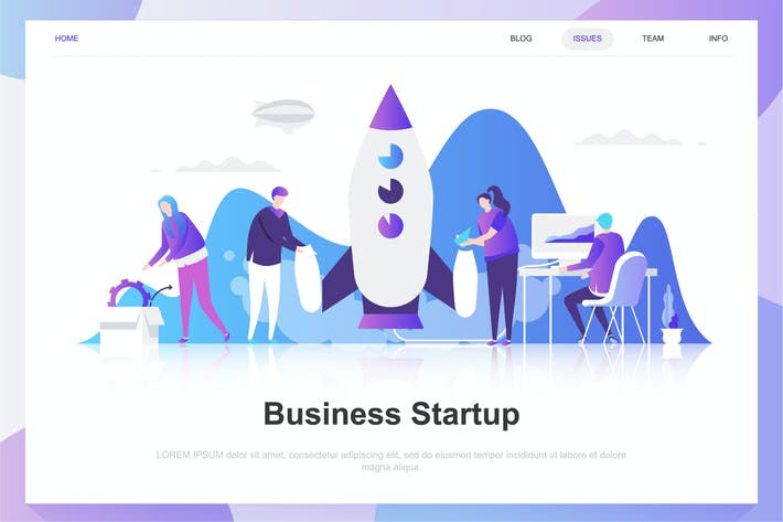 Thumbnail for Business Startup Flat Concept