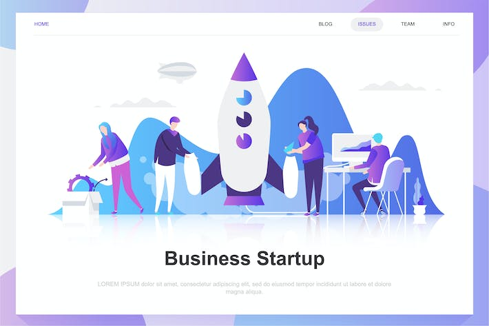 Business Startup Flat Concept