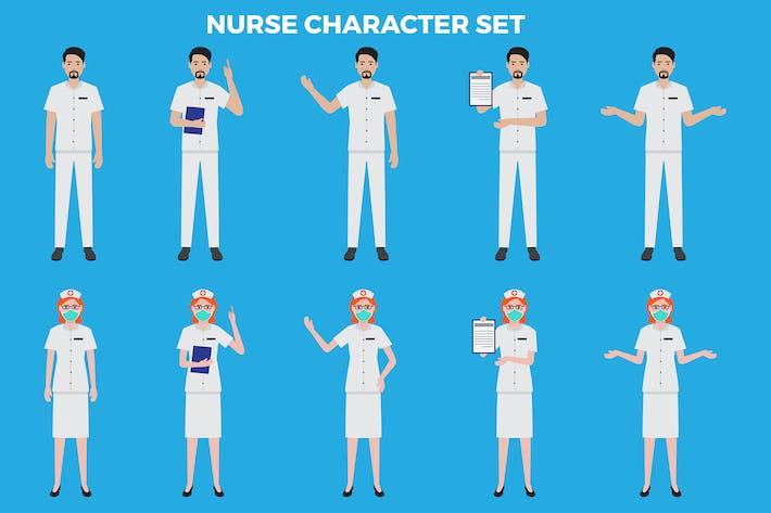 Nurse Character Set – Illustrations