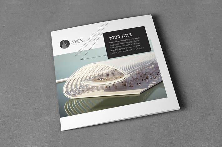 Cover Image For Square Cool Modern Architecture Trifold
