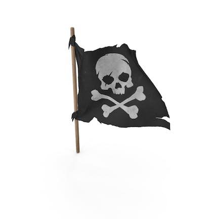 Piraten-Schädel und Knochen-Flagge