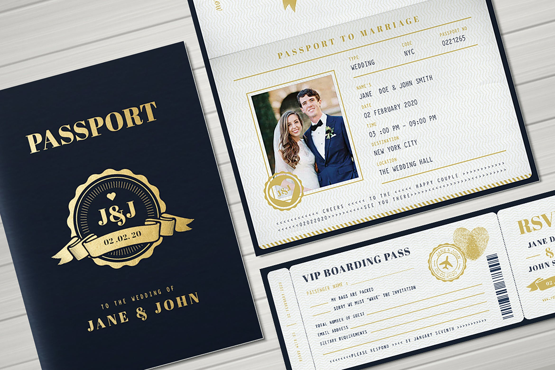 Passport Wedding Invitation by vynetta on Envato Elements