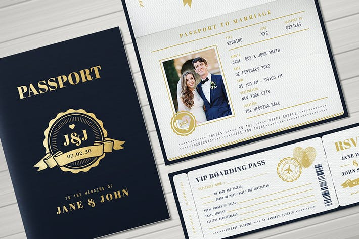 Thumbnail for Passport Wedding Invitation