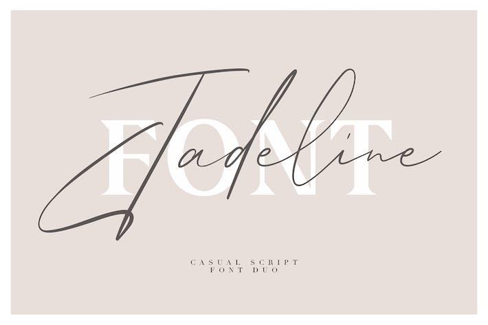 Thumbnail for Jadeline Script - Free Serif Font