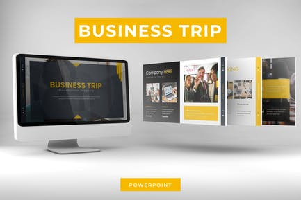 Бизнес-Путешествие — Шаблон Powerpoint